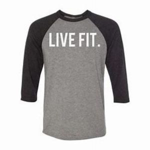 Live Fit Mens Gym/Baseball style Shirt